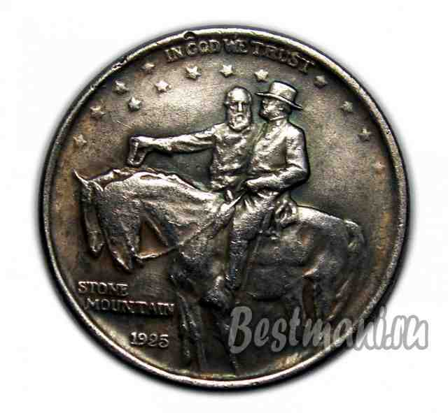 США 1/2 доллара 1925 Half Dollar. Stone Mountain Memorial, копия монеты
