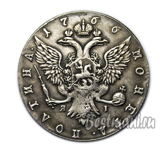Монета 1766 екатерина 2 кенинген машина