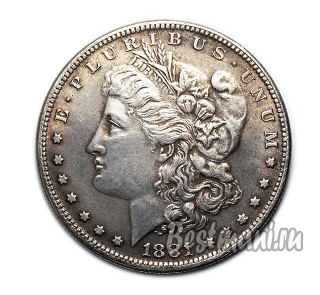 Моргановский доллар литва 2 лита, 2008