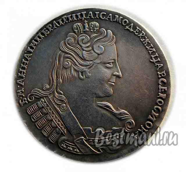 Серебряная монета анна 1733 2 марки 1969 года цена