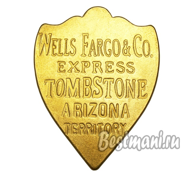 Банковский жетон Wells Fargo & Co Arizona Territory 1852 бронза