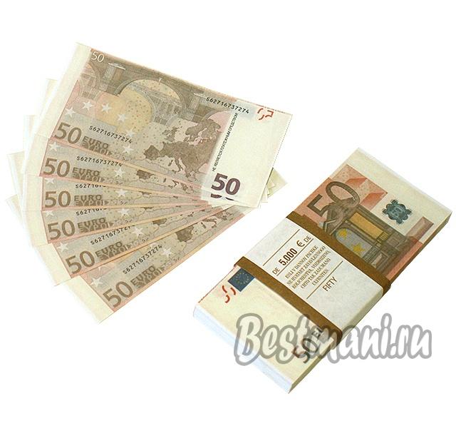 Пачка евро за монету в пять рублей монета на удачу серебро