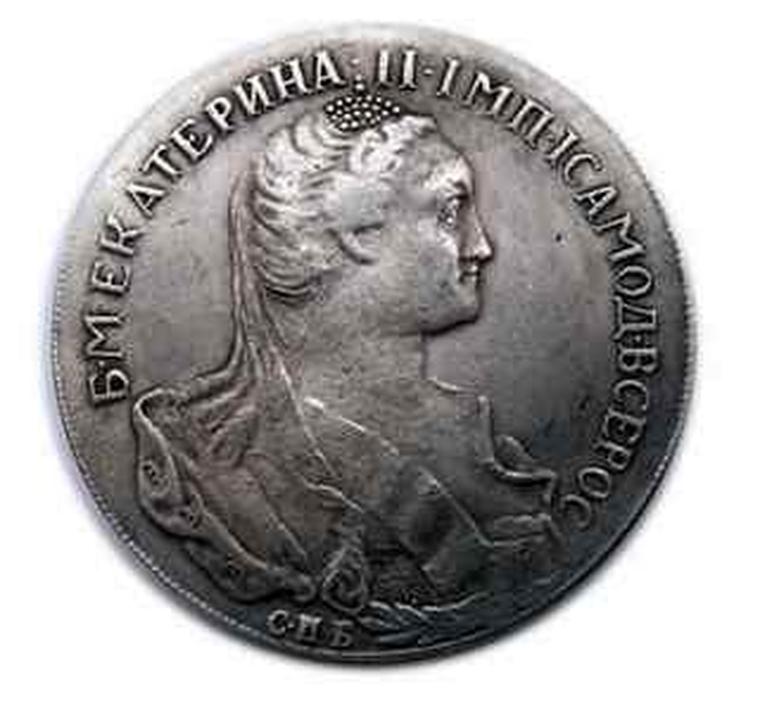 Монета рубль 1766 года 250 руб