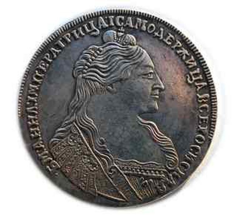 Монета рубль 1736 года копия монеты