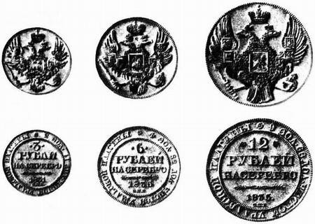 царские платиновые монеты