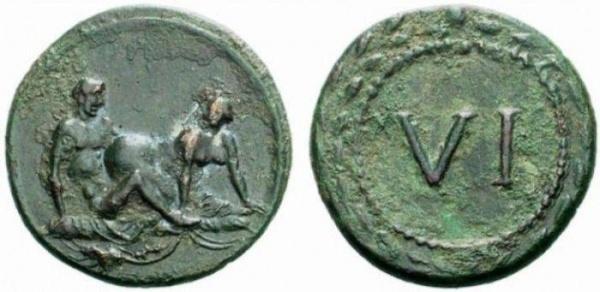 Античная монета VI sex античный секс серебро копия в наборе 16 монет