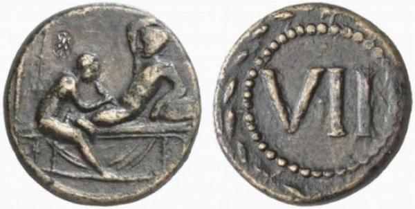 Античная монета VII sex античный секс копия серебряной монеты из набора